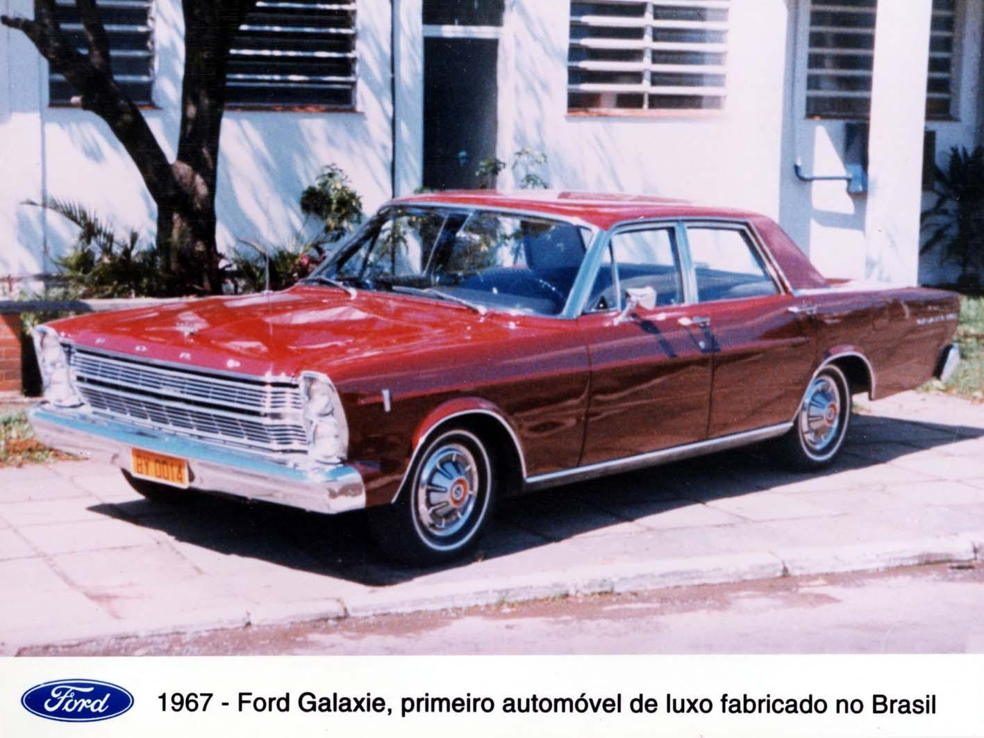 Ford foto antiga do 1967 ford galaxie primeiro automovel de luxo