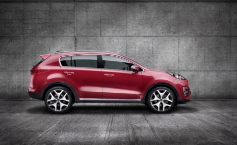 Lateral do Kia Sportage