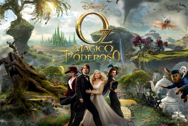Mila Kunis, James Franco, Michelle Williams  e Rachel Weisz estampam o banner de OZ: MÁGICO E PODEROSO