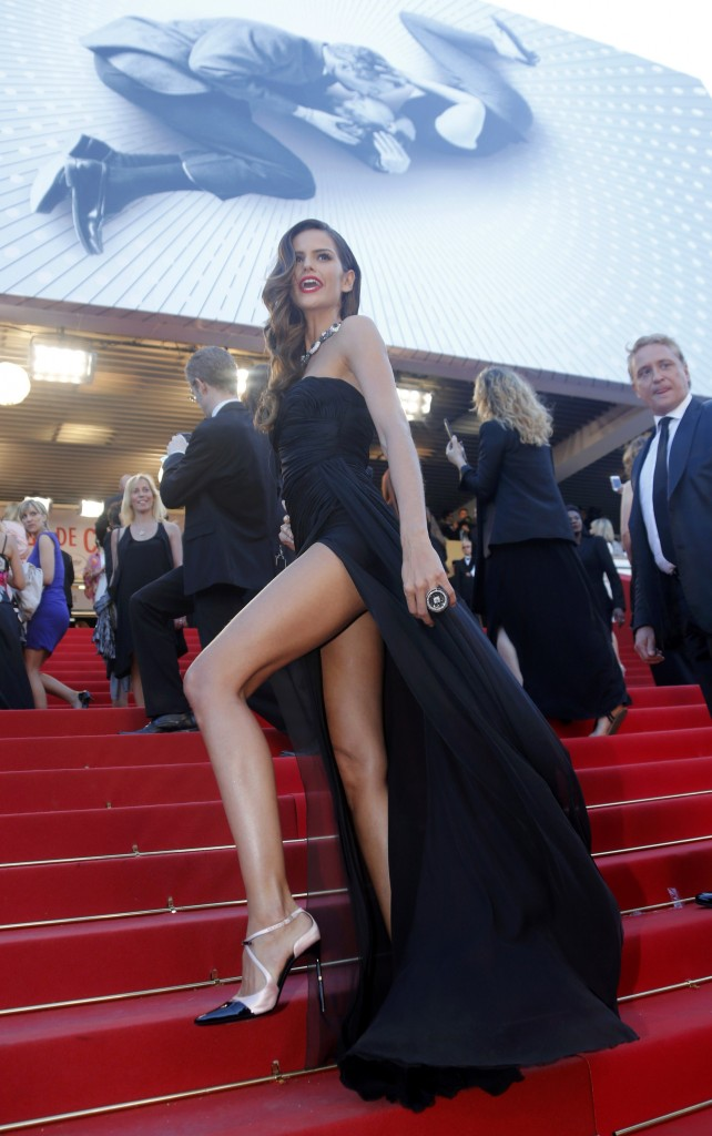 "Model Izabel Goulart poses on the red carpet as she arrives for the screening of the film ""The Immigrant"" in competition during the 66th Cannes Film Festival"