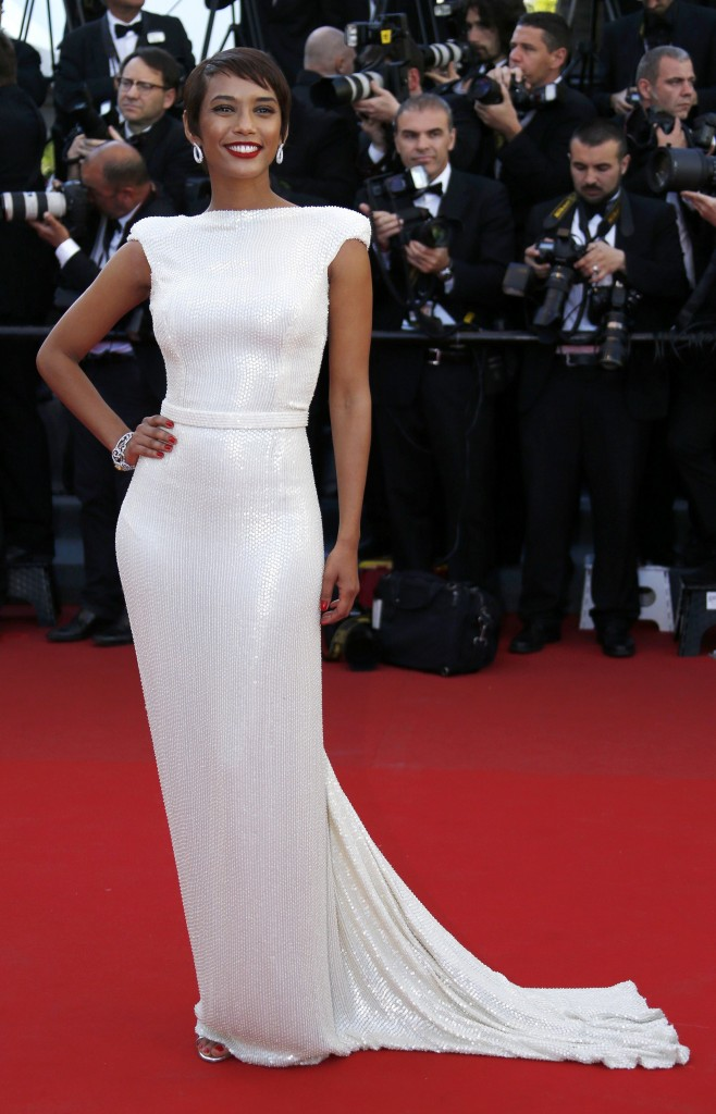 "Actress Tais Araujo arrives for the screening of the film ""The Immigrant"" in competition during the 66th Cannes Film Festival"