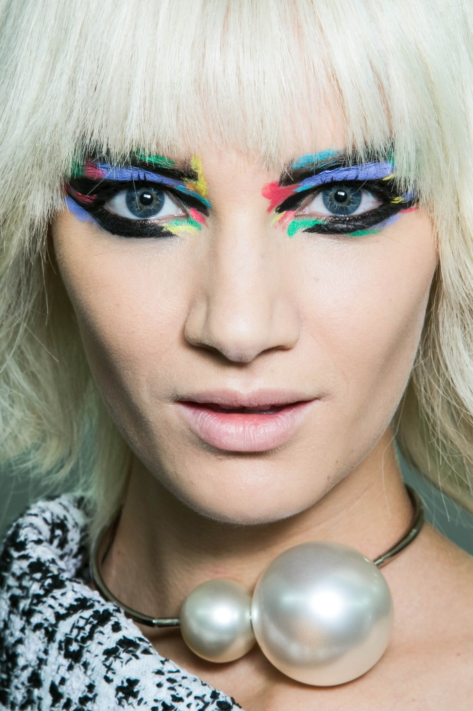 Backstage beauty, make up, Women's fashion week, Paris, spring summer 2014 Chanel