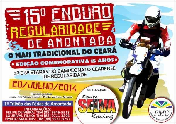 15º Enduro Amontada - Cartaz