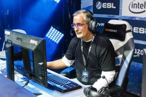 O CEO da Intel Brian Krzanich disputou uma partida de caridade do League of Legends no Intel Extreme Masters. Foto: Intel/iIvulgação