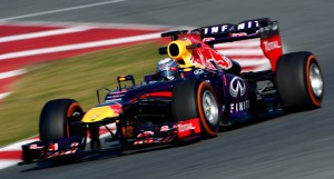 Red Bull on P Zero orange hard tyres