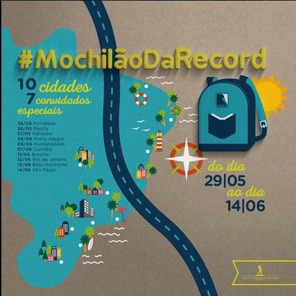 Datas do #MochilãoDaRecord