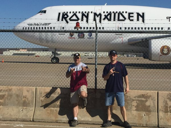 Up the irons @IronMaiden #bookofsoulstour https://t.co/RXOJGW1vnT - @ChainedEvil