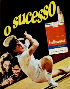 propaganda cigarros hollywood - 1971